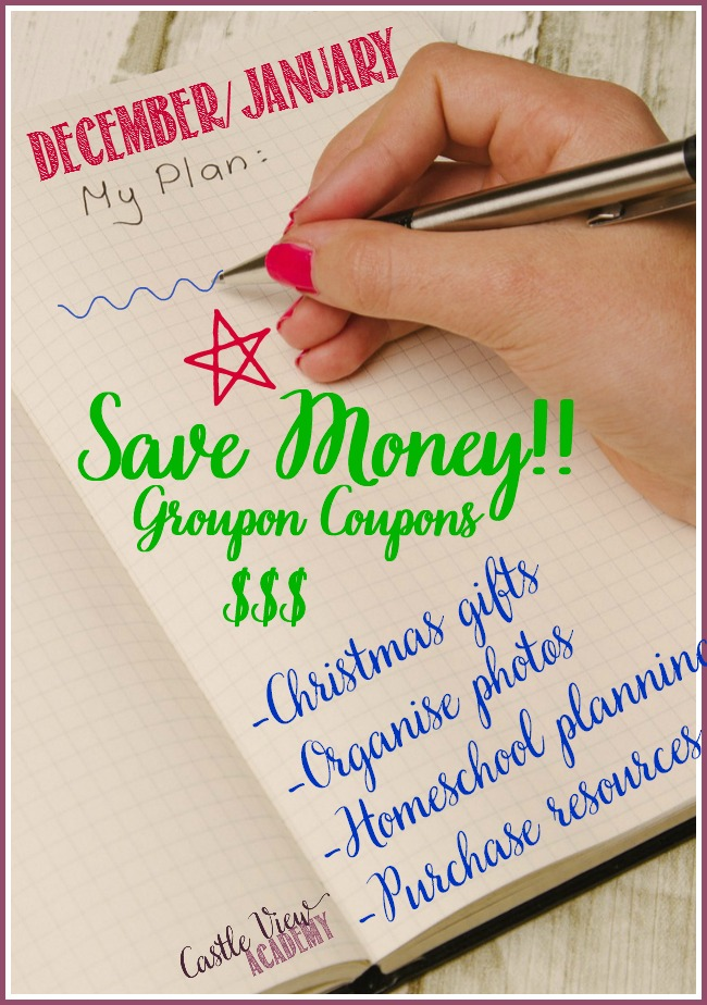 End of year savings with Groupon Coupons at Castle View Academy homeschool