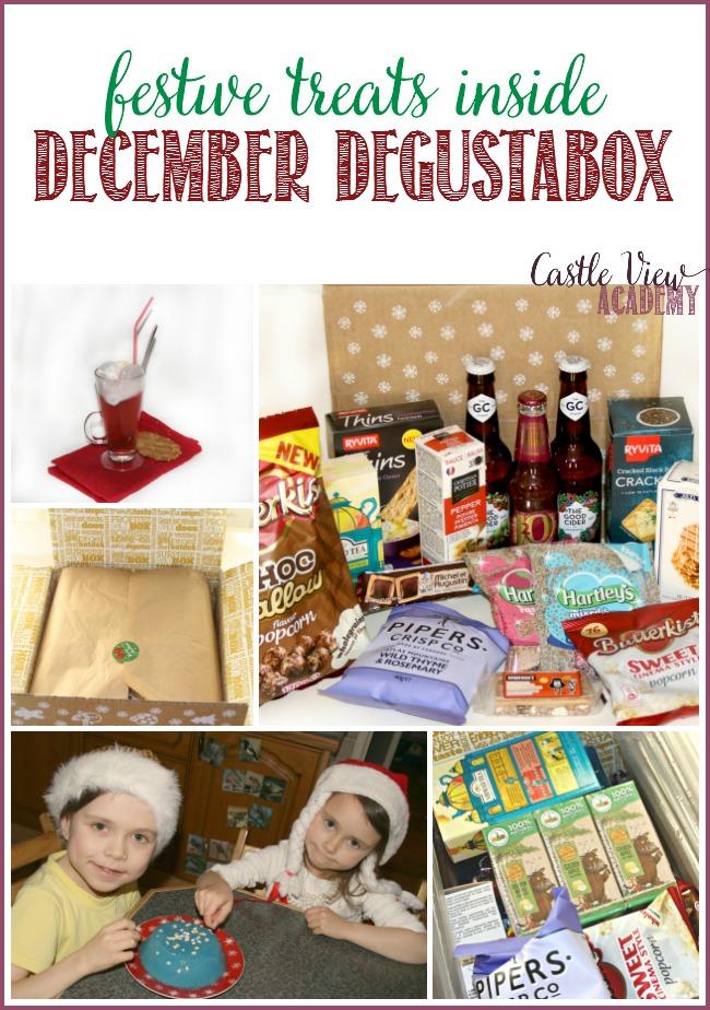 Festive treats await inside the December Degustabox, as revealed by Castle View Academy homeschool