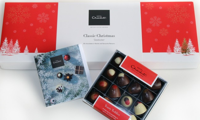Hotel Chocolate is a great gift for new moms according to Castle View Academy homeschool's gift guide