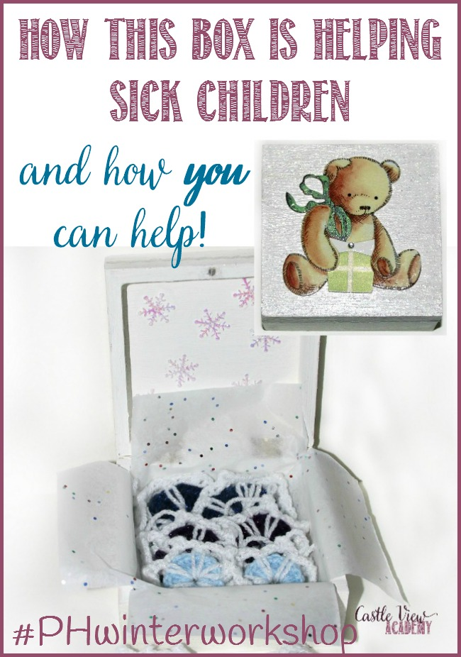 How to help sick children at GOSH with #{Hwinterworkshop and Castle View Academy homeschool