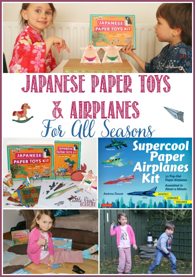 Japanese Paper Toys and Airplanes For All Seasons by Tuttle Publishing and reviewed by Castle View Academy homeschool