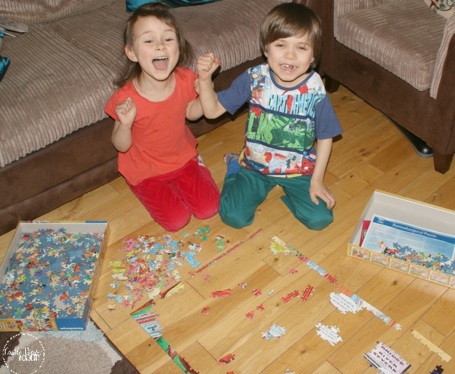 Joy of finding puzzle pieces that fit at Castle View Academy homeschool