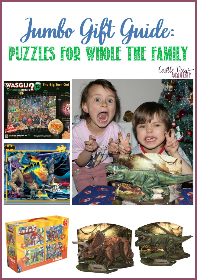 Jumbo Gift Guide, Puzzles for the whole family recommended by Castle View Academy homeschool