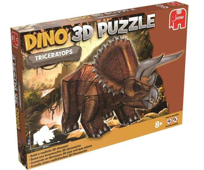 Jumbo's DINO 3D Triceratops Model Puzzle recommended by Castle View Academy homeschool