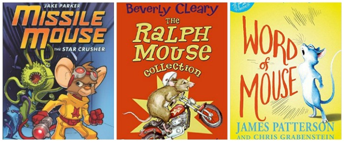 Mouse books for kids to read at Castle View Acadey homeschool