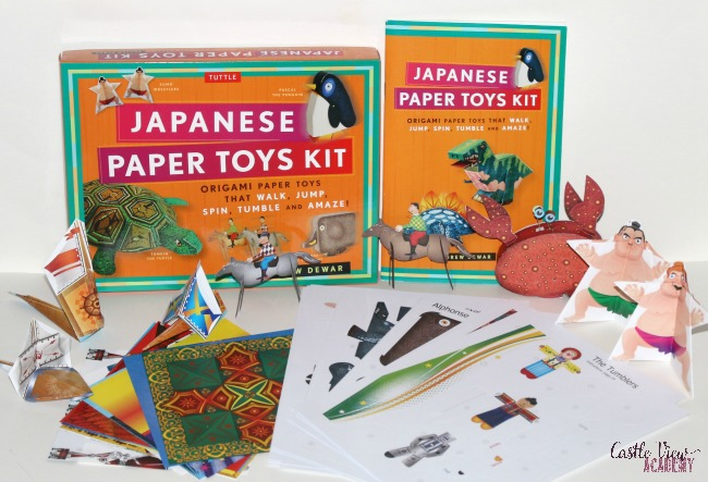 Our review of Japanese Paper Toys Kit at Castle View Academy homeschool