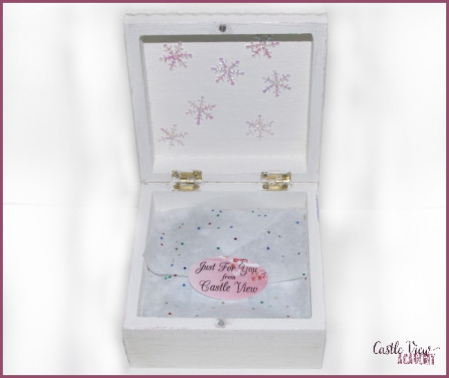 Our sparkly Winter Workshop Box Just For You From Castle View academy homeschool