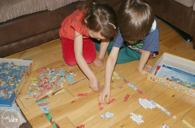 Putting together Christmas puzzles are one of our favourite things at Castle View Academy homeschool
