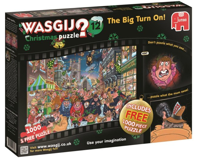 Wasgij 12 The Big Turn On Christmas Puzzle is recommended by Castle View Academy homeschool