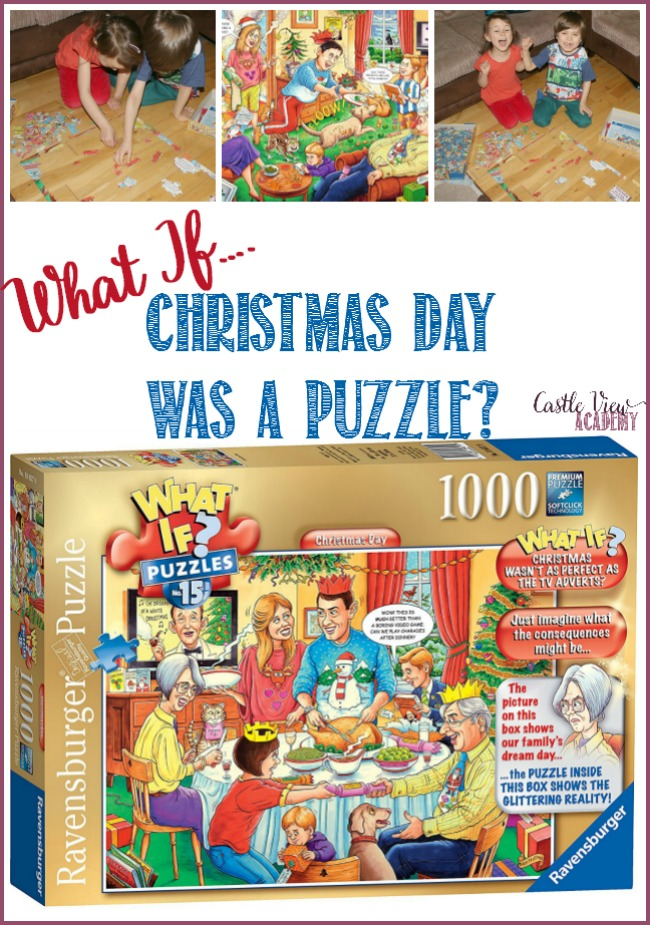 What if Christmas Day was a puzzle by Ravensburger Putting the pieces together at Castle View Academy homeschool