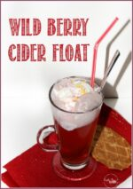 Festive Wild Berry Cider Float