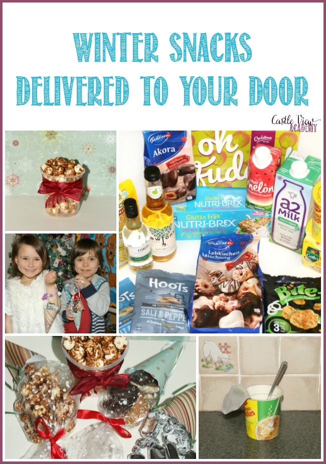 Winter snacks delivered to your door by Degustabox, as reviewed by Castle View Academy homeschool