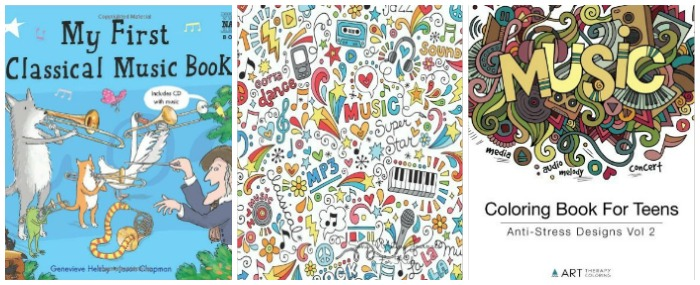 Books About Music Colouring at Castle View Academy homeschool
