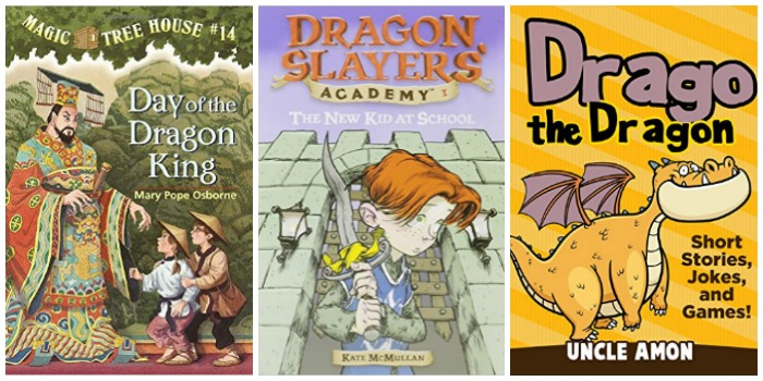 Books about dragons for early readers at Castle View Academy homeschool