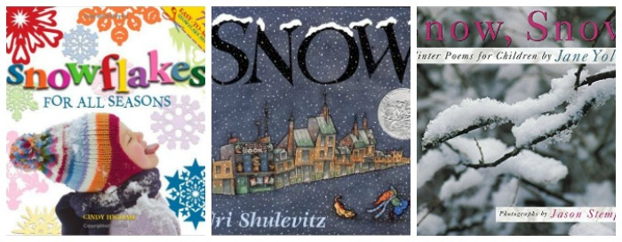Books about snow at Castle View Academy homeschool