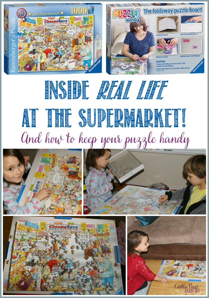 Castle View Academy goes inside Best Of British to discover real life at the Supermarket and tries out the Puzzle Handy by Ravensburger