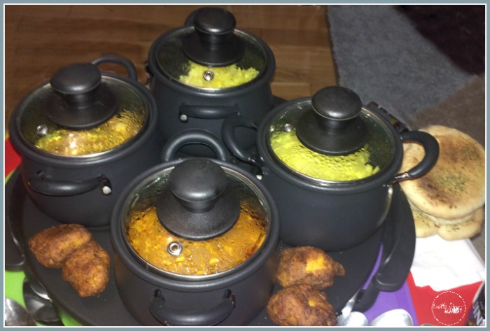 Date night is made more special with curry kept warm and served from an electic buffet warmer at Castle View Academy homeschool