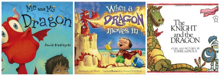 Dragon books for kids at Castle View Academy homeschool
