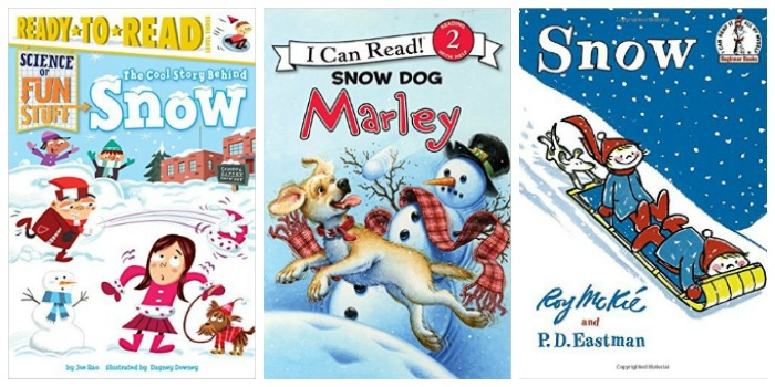 Easy reader books about snow at Castle View Academy homeschool