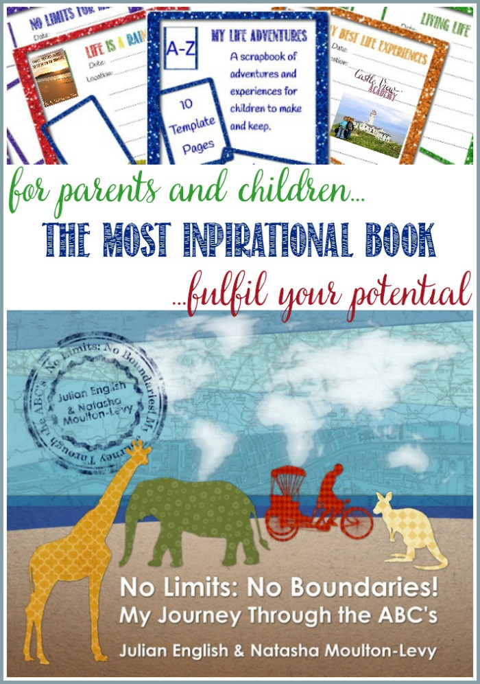 No Limits No Boundaries! An inspirational book for parents and children, and a printable scrapbook template is offered by Castle View Academy homeschool