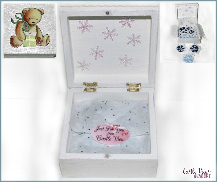 Our sparkly Winter Workshop Box Just For You From Castle View Academy homeschool and Sticker App