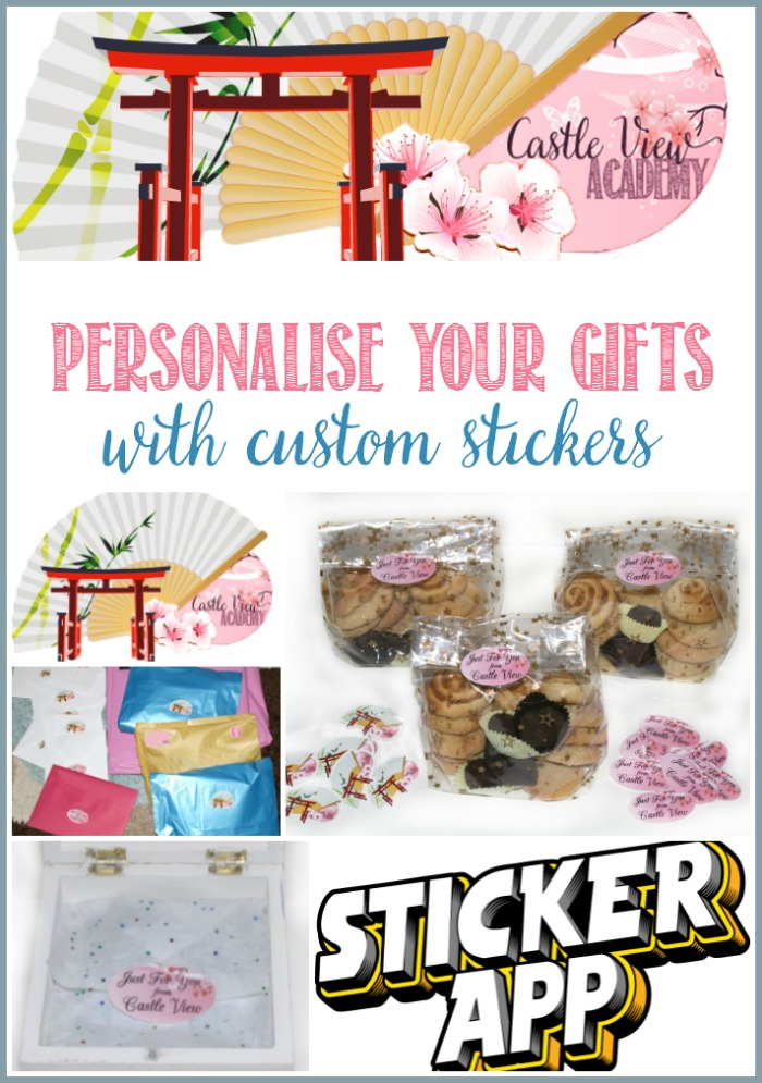 Personalise your gifts with custom stickers - find out how easy it was for Castle View Academy homeschool