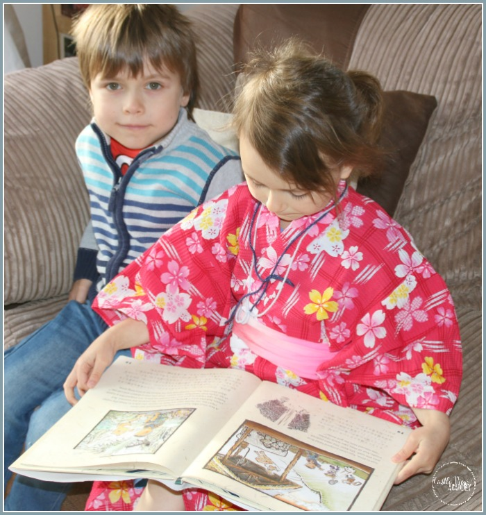 Reading the Last Kappa of Old Japan at Castle View Academy homeschool