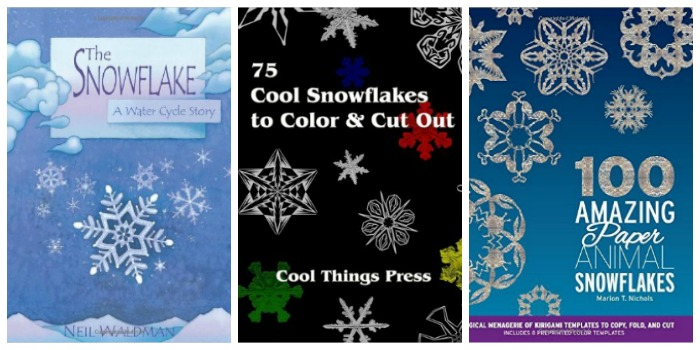 Snowflake science and paper snowflake books for kids at Castle View Academy homeschool