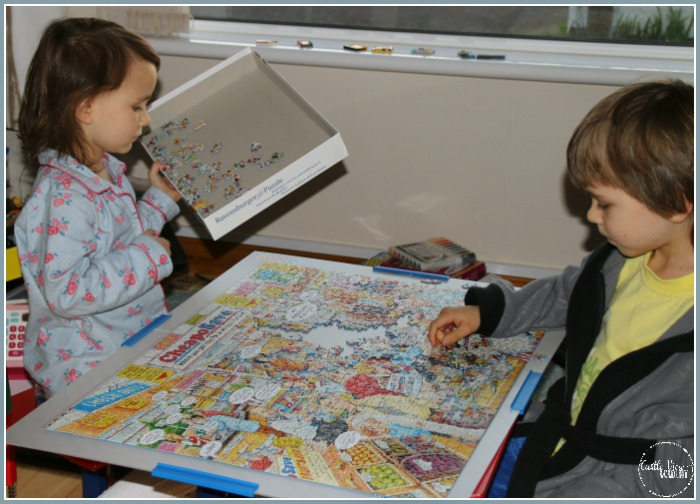 The Best of British Supermarket puzzle is almost complete at Castle View Academy homeschool