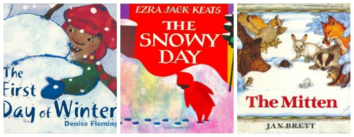 Winter books for kids at Castle View Academy homeschool