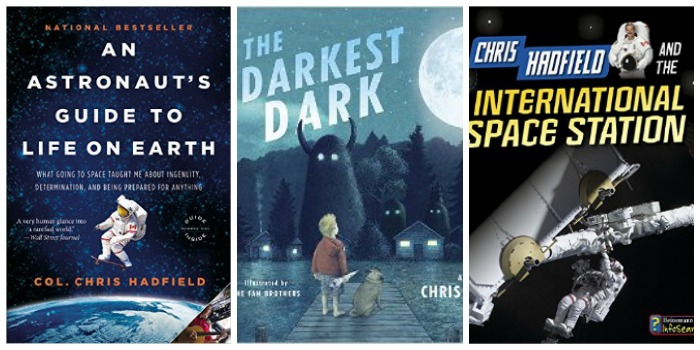 Books about Chris Hadfield for all ages at Castle View Academy homeschool