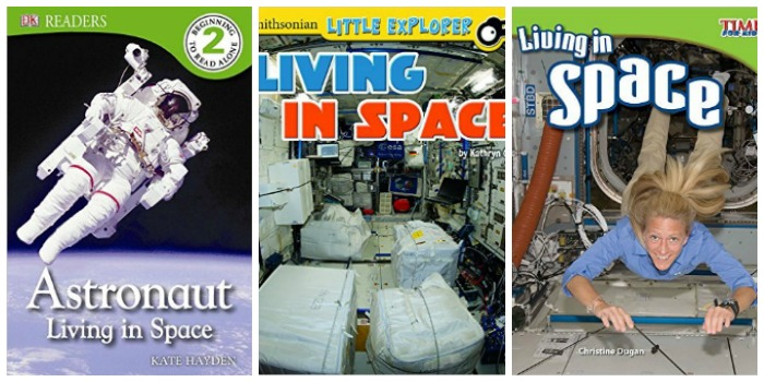 Books about living in space at Castle View Academy homeschool