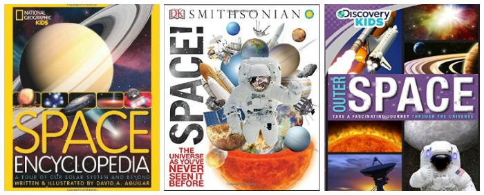 Books about outer space at Castle View Academy homeschool