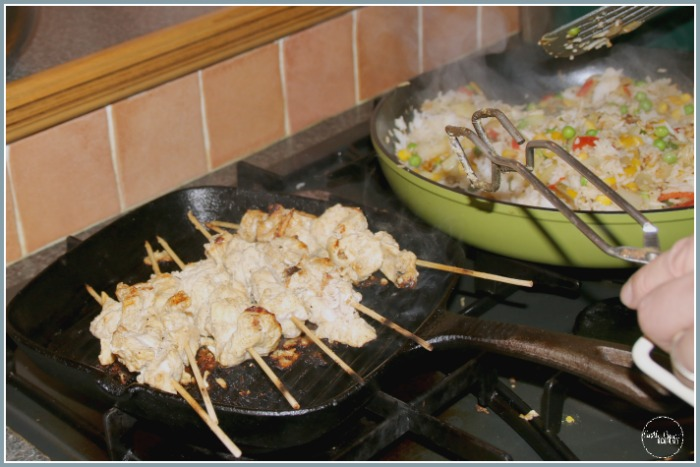 Chicken Satay from Thailand at Castle View Academy homeschool
