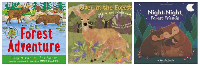 Forest books for young children at Castle View Academy homeschool