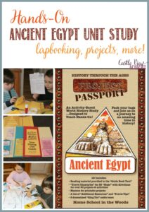 Hands-on Ancient Egypt Unit Study at Castle View Academy homeschool