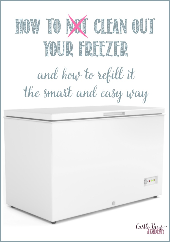 How to clean out your freezer and how to refill it the smart and easy way at Castle View Academy homeschool