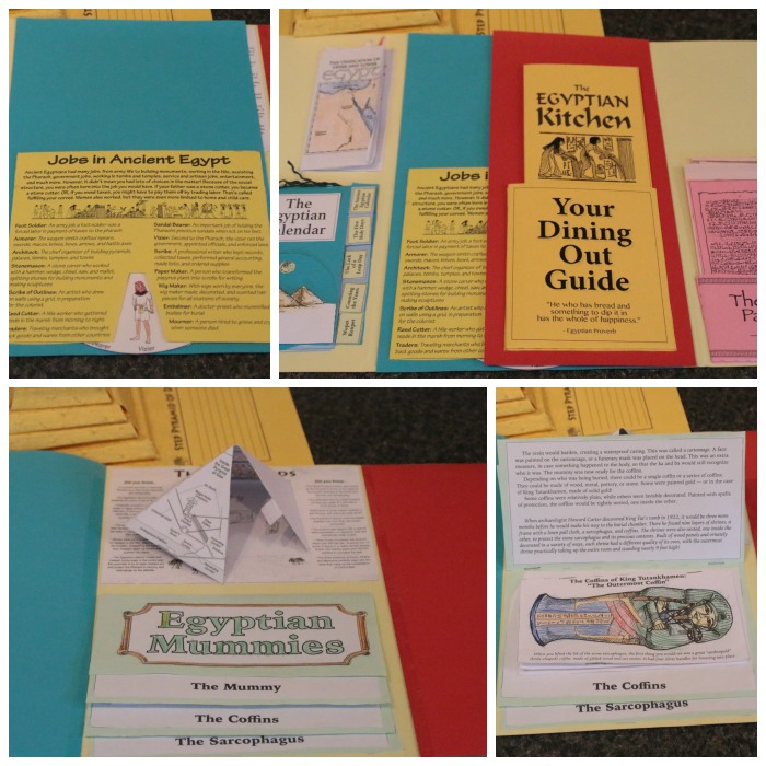 Inside the Ancient Egypt lapbook