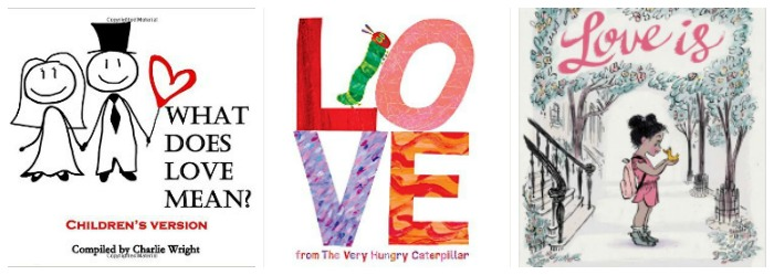 Kids books about love at Castle View Academy homeschool