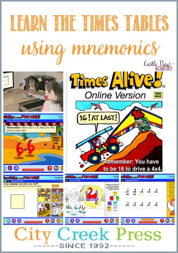 Learn Times Tables The Fun Way Using Mnemonics with Castle View Academy homeschool