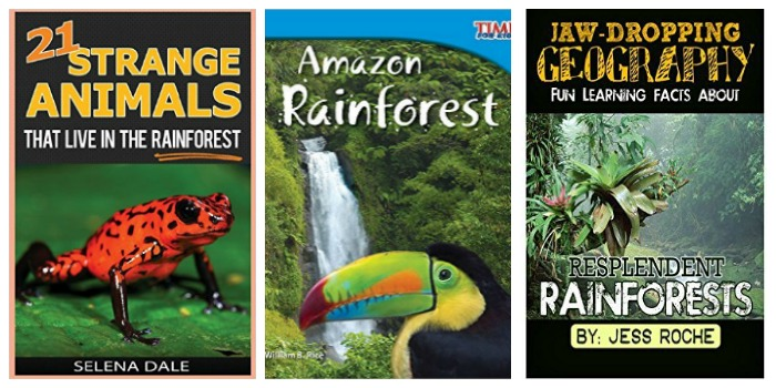 Rain Forest books for kids at Castle View Academy homeschool