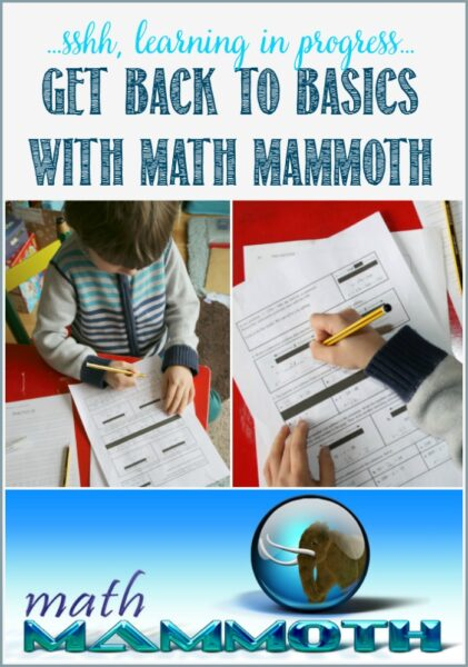 We're getting back to basics with Math Mammoth for homeschooling grade 4 at Castle View Academy homeschool