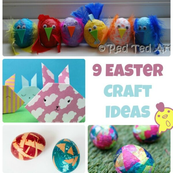9 Easter Crafts For Kids by Red Ted Art at Castle View Academy homeschool