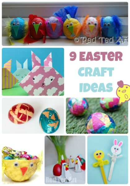 9 Easter Craft Ideas by Red Ted Art at Castle View Academy homeschool