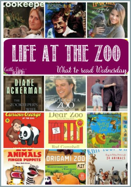 Booksa bout life at the zoo with Castle View Academy homeschool