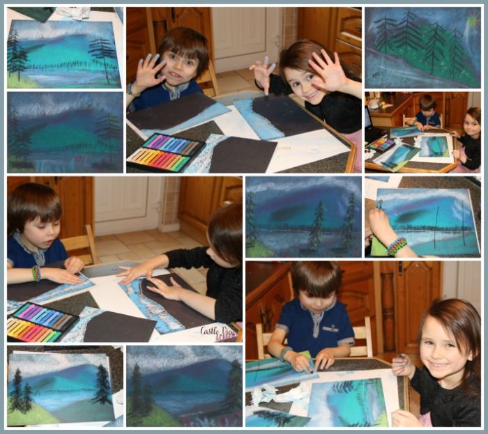 Creating a Masterpiece at Castle View Academy homeschool art class