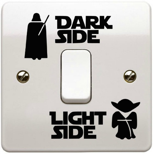 Dark side wall switch