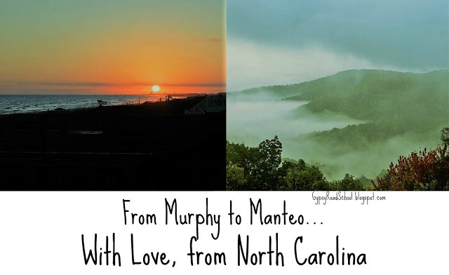 From Murphy to Manteo, With Love From North Carolina by Gypsy Road School for Castle View Academy homeschool