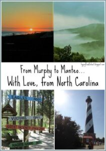 From Murphy to Manteo, a Postcard from North Carolina from Gypsy Road School for Castle View Academy homeschool