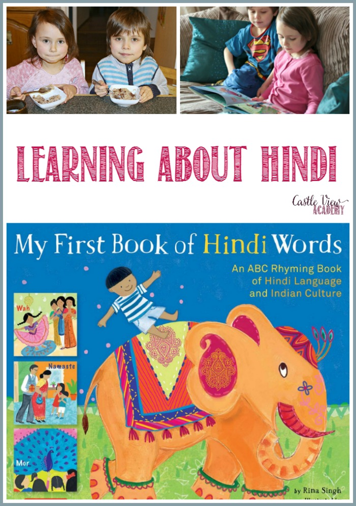 Learning about Hindi at Castle View Academy homeschool